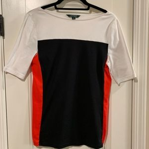 Lauren Ralph Lauren Color-block Top-Large